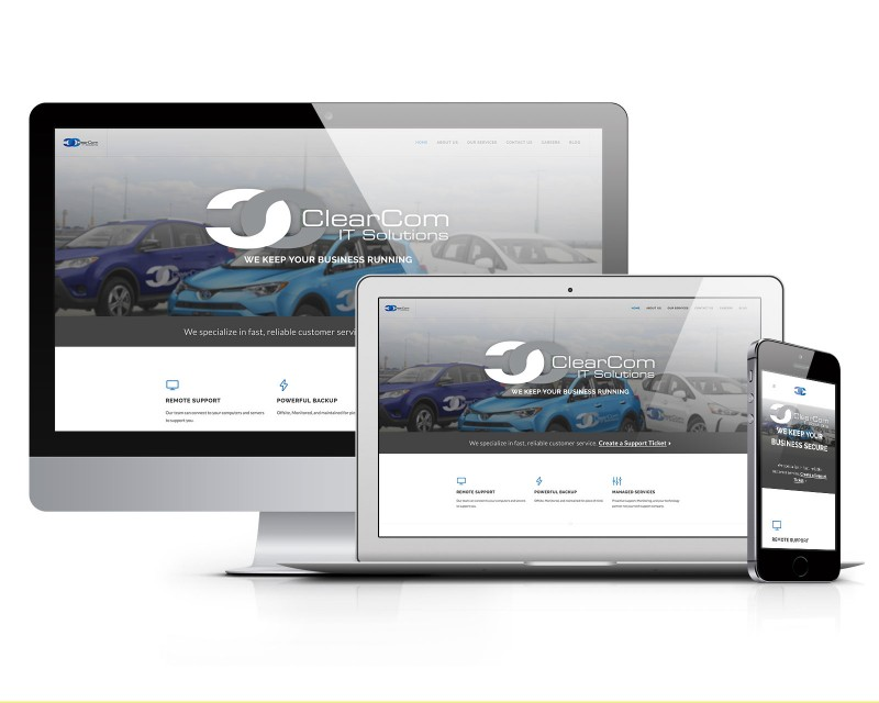 ClearCom IT Solutions - Responsive Website