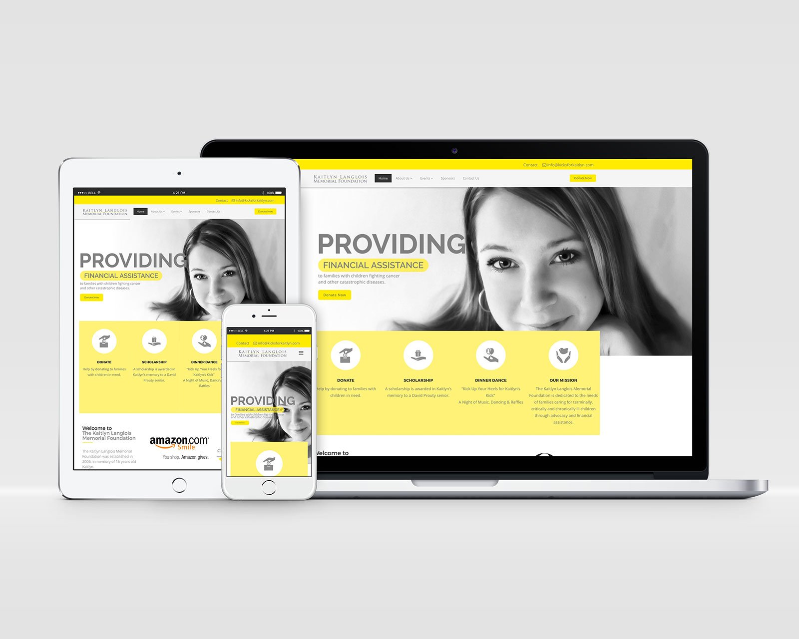 Kaitlyn Langlois Memorial Foundation - Responsive Website